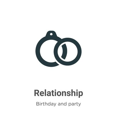 Relationship vector icon on white background. Flat vector relationship icon symbol sign from modern birthday and party collection for mobile concept and web apps design. Imagens - 142529706