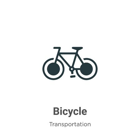 Bicycle vector icon on white background. Flat vector bicycle icon symbol sign from modern transportation collection for mobile concept and web apps design.