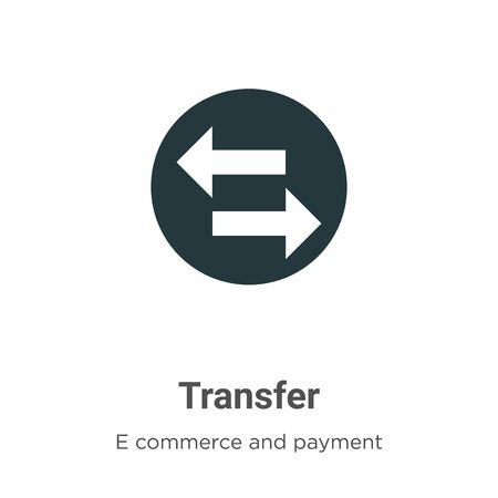 Transfer vector icon on white background. Flat vector transfer icon symbol sign from modern e commerce and payment collection for mobile concept and web apps design. Imagens - 142529711