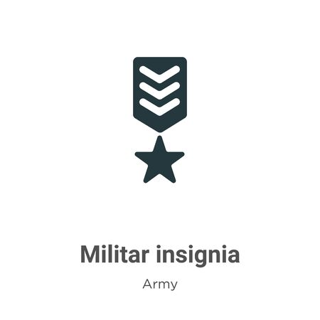 Militar insignia vector icon on white background. Flat vector militar insignia icon symbol sign from modern army collection for mobile concept and web apps design. Imagens - 142529715
