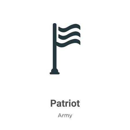 Patriot vector icon on white background. Flat vector patriot icon symbol sign from modern army collection for mobile concept and web apps design. Vettoriali