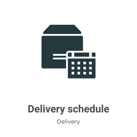 Delivery schedule vector icon on white background. Flat vector delivery schedule icon symbol sign from modern delivery collection for mobile concept and web apps design.