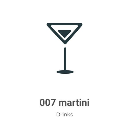 007 martini vector icon on white background. Flat vector 007 martini icon symbol sign from modern drinks collection for mobile concept and web apps design.