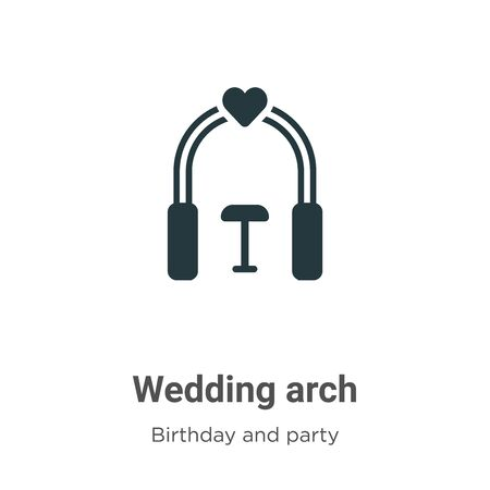 Wedding arch vector icon on white background. Flat vector wedding arch icon symbol sign from modern birthday and party collection for mobile concept and web apps design. Archivio Fotografico - 142529764