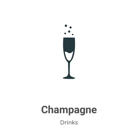 Champagne vector icon on white background. Flat vector champagne icon symbol sign from modern drinks collection for mobile concept and web apps design.