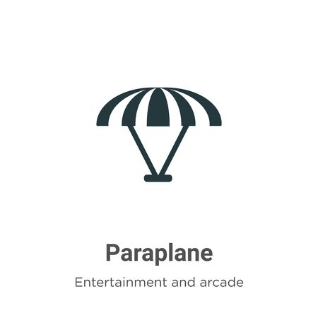 Paraplane vector icon on white background. Flat vector paraplane icon symbol sign from modern entertainment and arcade collection for mobile concept and web apps design.