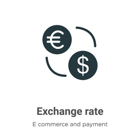 Exchange rate vector icon on white background. Flat vector exchange rate icon symbol sign from modern e commerce and payment collection for mobile concept and web apps design. Archivio Fotografico - 142529773