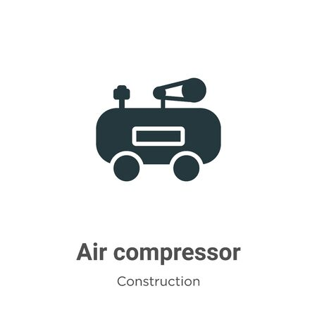 Air compressor vector icon on white background. Flat vector air compressor icon symbol sign from modern construction collection for mobile concept and web apps design. Archivio Fotografico - 142529774