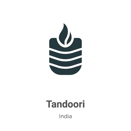 Tandoori vector icon on white background. Flat vector tandoori icon symbol sign from modern india collection for mobile concept and web apps design.