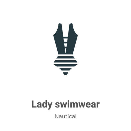 Lady swimwear vector icon on white background. Flat vector lady swimwear icon symbol sign from modern nautical collection for mobile concept and web apps design. Иллюстрация