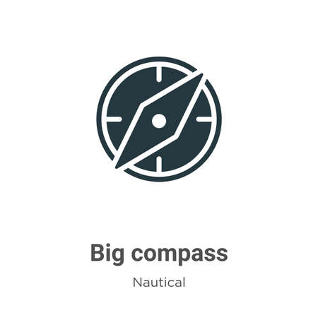 Big compass vector icon on white background. Flat vector big compass icon symbol sign from modern nautical collection for mobile concept and web apps design.