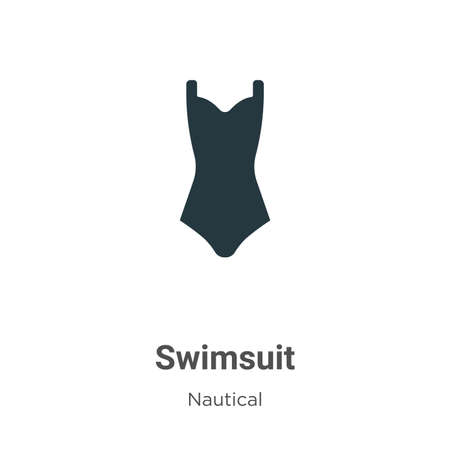 Swimsuit vector icon on white background. Flat vector swimsuit icon symbol sign from modern nautical collection for mobile concept and web apps design.