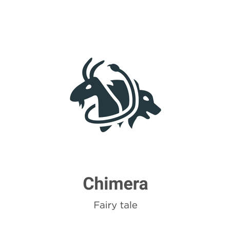 Chimera vector icon on white background. Flat vector chimera icon symbol sign from modern fairy tale collection for mobile concept and web apps design. Vektoros illusztráció