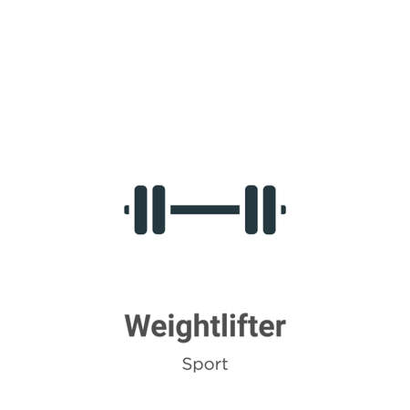 Weightlifter vector icon on white background. Flat vector weightlifter icon symbol sign from modern sport collection for mobile concept and web apps design. Illustration