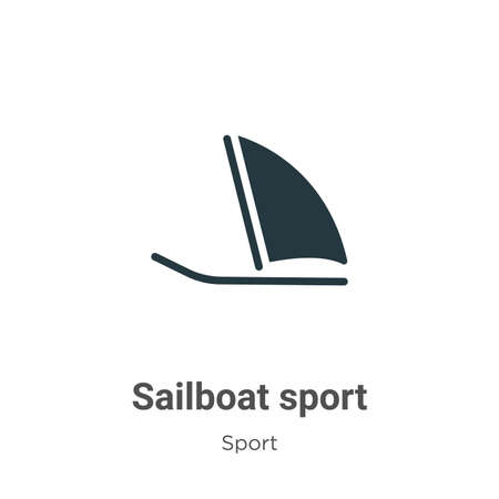 Sailboat sport vector icon on white background. Flat vector sailboat sport icon symbol sign from modern sport collection for mobile concept and web apps design.