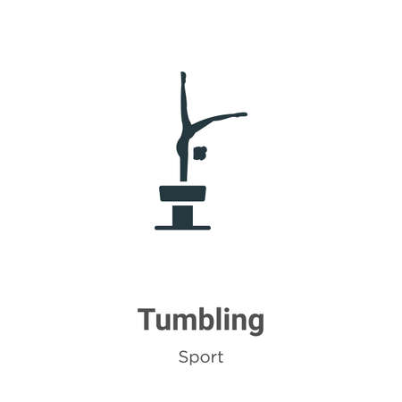 Tumbling vector icon on white background. Flat vector tumbling icon symbol sign from modern sport collection for mobile concept and web apps design. Illusztráció