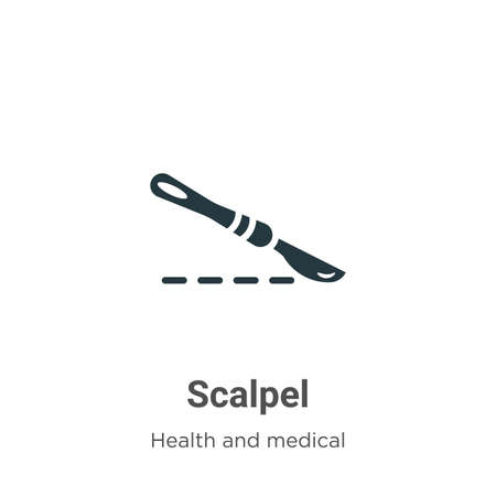 Scalpel vector icon on white background. Flat vector scalpel icon symbol sign from modern health and medical collection for mobile concept and web apps design. Illusztráció