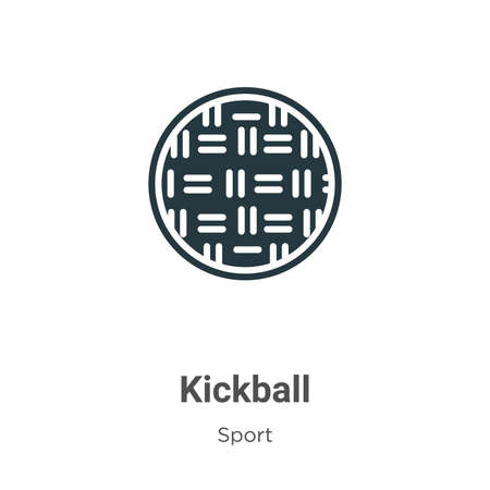 Kickball vector icon on white background. Flat vector kickball icon symbol sign from modern sport collection for mobile concept and web apps design. Ilustração