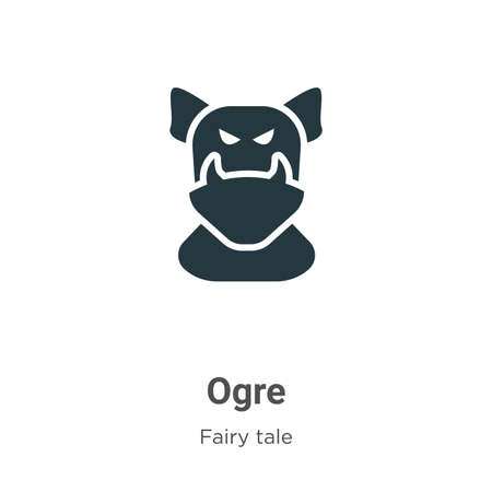 Ogre vector icon on white background. Flat vector ogre icon symbol sign from modern fairy tale collection for mobile concept and web apps design. Illustration