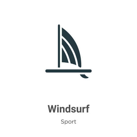 Windsurf vector icon on white background. Flat vector windsurf icon symbol sign from modern sport collection for mobile concept and web apps design.