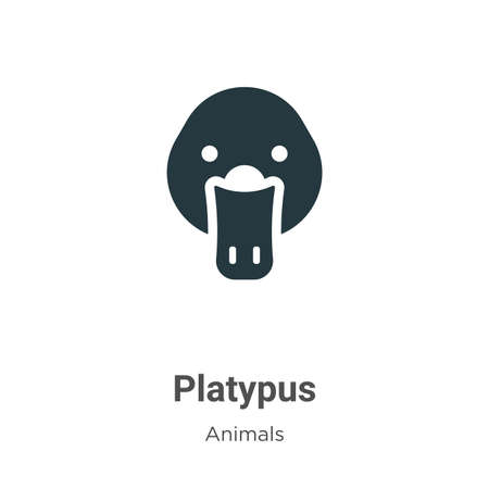 Platypus vector icon on white background. Flat vector platypus icon symbol sign from modern animals collection for mobile concept and web apps design.