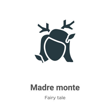 Madre monte vector icon on white background. Flat vector madre monte icon symbol sign from modern fairy tale collection for mobile concept and web apps design.