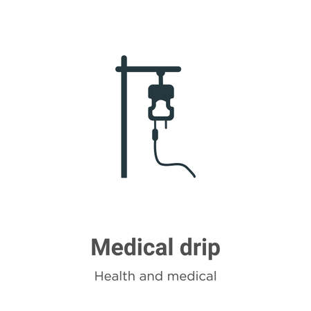 Medical drip vector icon on white background. Flat vector medical drip icon symbol sign from modern health and medical collection for mobile concept and web apps design.