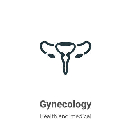 Gynecology vector icon on white background. Flat vector gynecology icon symbol sign from modern health and medical collection for mobile concept and web apps design. 일러스트