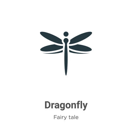 Dragonfly vector icon on white background. Flat vector dragonfly icon symbol sign from modern fairy tale collection for mobile concept and web apps design. 向量圖像
