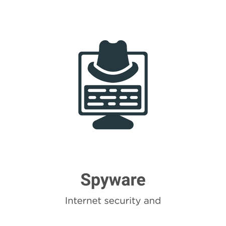 Spyware vector icon on white background. Flat vector spyware icon symbol sign from modern internet security and networking collection for mobile concept and web apps design.