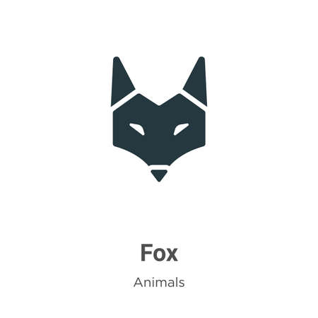 Fox vector icon on white background. Flat vector fox icon symbol sign from modern animals collection for mobile concept and web apps design.