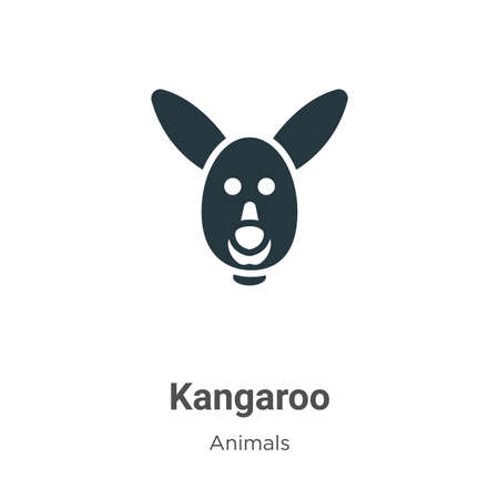 Kangaroo vector icon on white background. Flat vector kangaroo icon symbol sign from modern animals collection for mobile concept and web apps design.