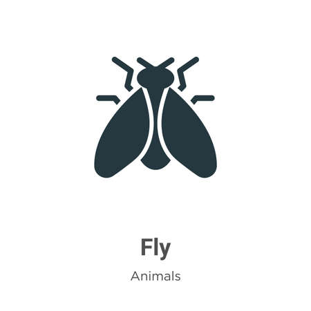 Fly vector icon on white background. Flat vector fly icon symbol sign from modern animals collection for mobile concept and web apps design.