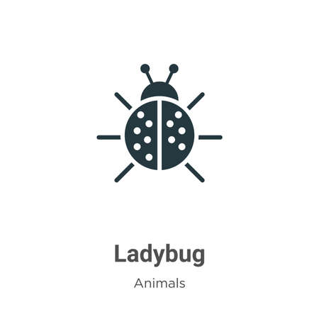 Ladybug vector icon on white background. Flat vector ladybug icon symbol sign from modern animals collection for mobile concept and web apps design.