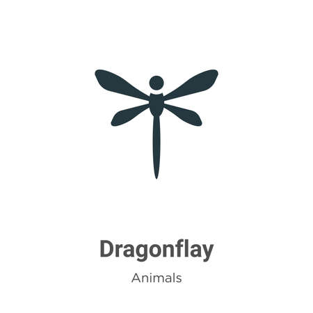 Dragonflay vector icon on white background. Flat vector dragonflay icon symbol sign from modern animals collection for mobile concept and web apps design.