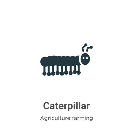 Caterpillar vector icon on white background. Flat vector caterpillar icon symbol sign from modern agriculture farming and gardening collection for mobile concept and web apps design.