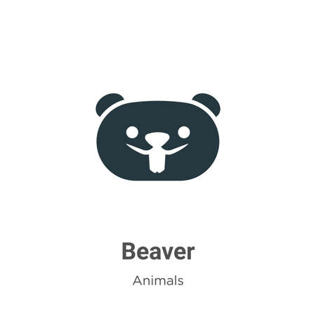 Beaver vector icon on white background. Flat vector beaver icon symbol sign from modern animals collection for mobile concept and web apps design. 矢量图像