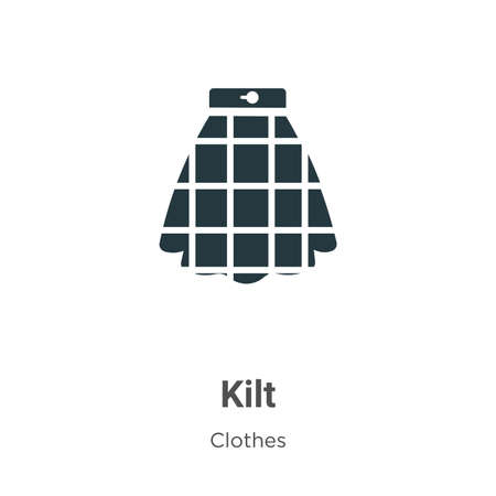 Kilt vector icon on white background. Flat vector kilt icon symbol sign from modern clothes collection for mobile concept and web apps design.