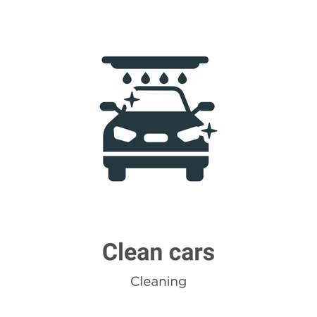 Clean cars vector icon on white background. Flat vector clean cars icon symbol sign from modern cleaning collection for mobile concept and web apps design.