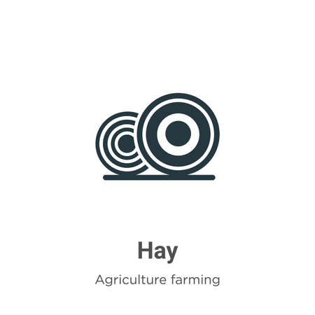 Hay vector icon on white background. Flat vector hay icon symbol sign from modern agriculture farming and gardening collection for mobile concept and web apps design.