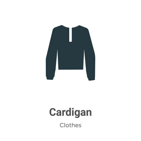 Cardigan vector icon on white background. Flat vector cardigan icon symbol sign from modern clothes collection for mobile concept and web apps design.