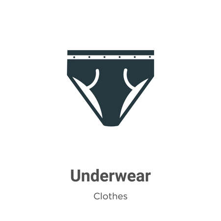 Underwear vector icon on white background. Flat vector underwear icon symbol sign from modern clothes collection for mobile concept and web apps design.