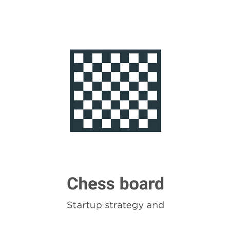 Chess board vector icon on white background. Flat vector chess board icon symbol sign from modern startup strategy and success collection for mobile concept and web apps design. Vecteurs