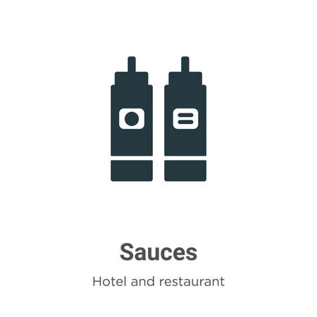 Sauces vector icon on white background. Flat vector sauces icon symbol sign from modern hotel and restaurant collection for mobile concept and web apps design.