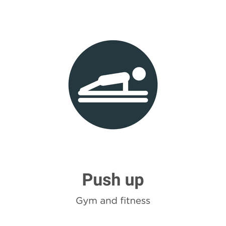 Push up vector icon on white background. Flat vector push up icon symbol sign from modern gym and fitness collection for mobile concept and web apps design.