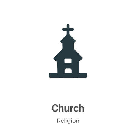 Church vector icon on white background. Flat vector church icon symbol sign from modern religion collection for mobile concept and web apps design.