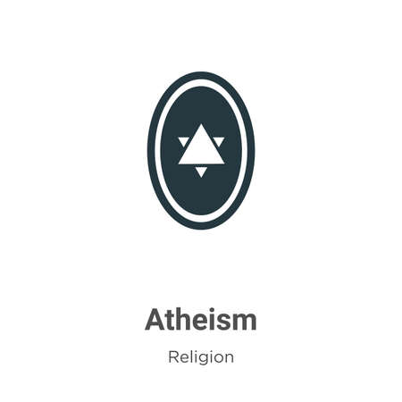 Atheism vector icon on white background. Flat vector atheism icon symbol sign from modern religion collection for mobile concept and web apps design.