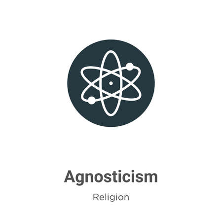 Agnosticism vector icon on white background. Flat vector agnosticism icon symbol sign from modern religion collection for mobile concept and web apps design. Vecteurs