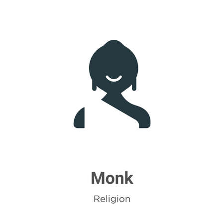 Monk vector icon on white background. Flat vector monk icon symbol sign from modern religion collection for mobile concept and web apps design. Illusztráció