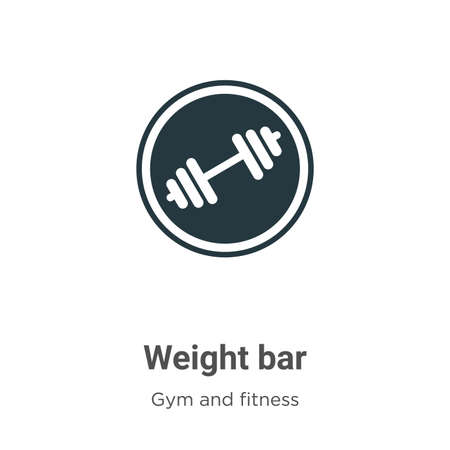 Weight bar vector icon on white background. Flat vector weight bar icon symbol sign from modern gym and fitness collection for mobile concept and web apps design.